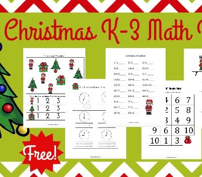 FREE Christmas Math Pack for K-3
