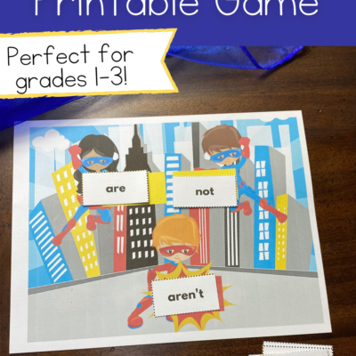 Contractions Printable Game